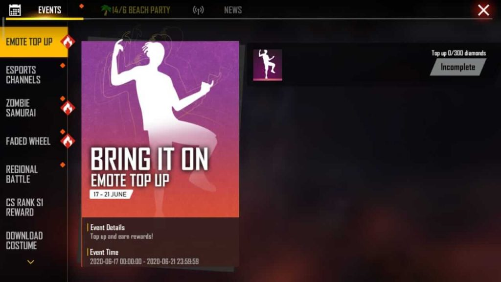 Free Fire Giving Away 'Bring It On' Emote For Free