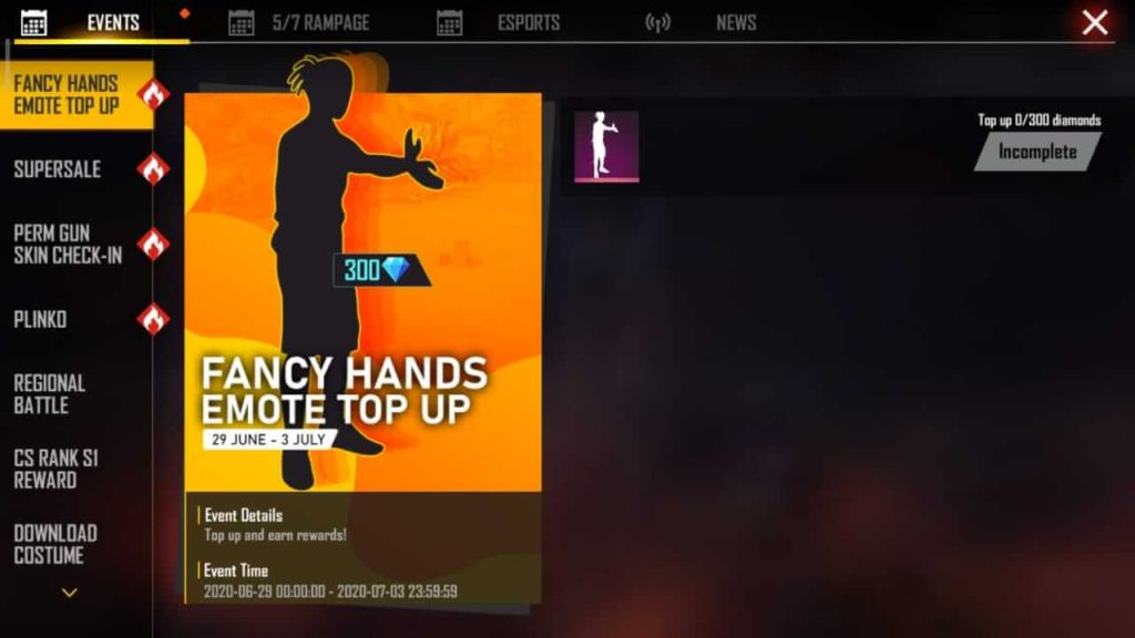Free Fire Giving Away 'Fancy Hands' Emote For Free