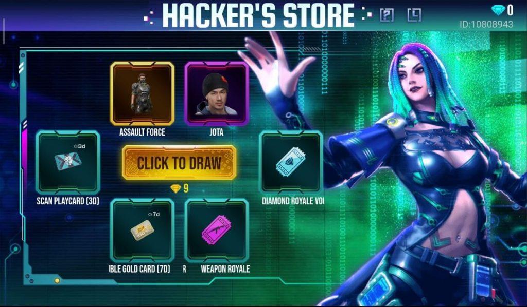 Free Fire Hacker's Store 6.0 July 2020 Complete Details