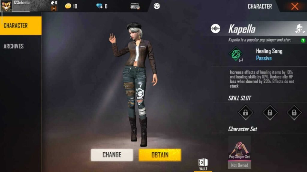 Free Fire Kapella Character: Guide, Tips & Tricks