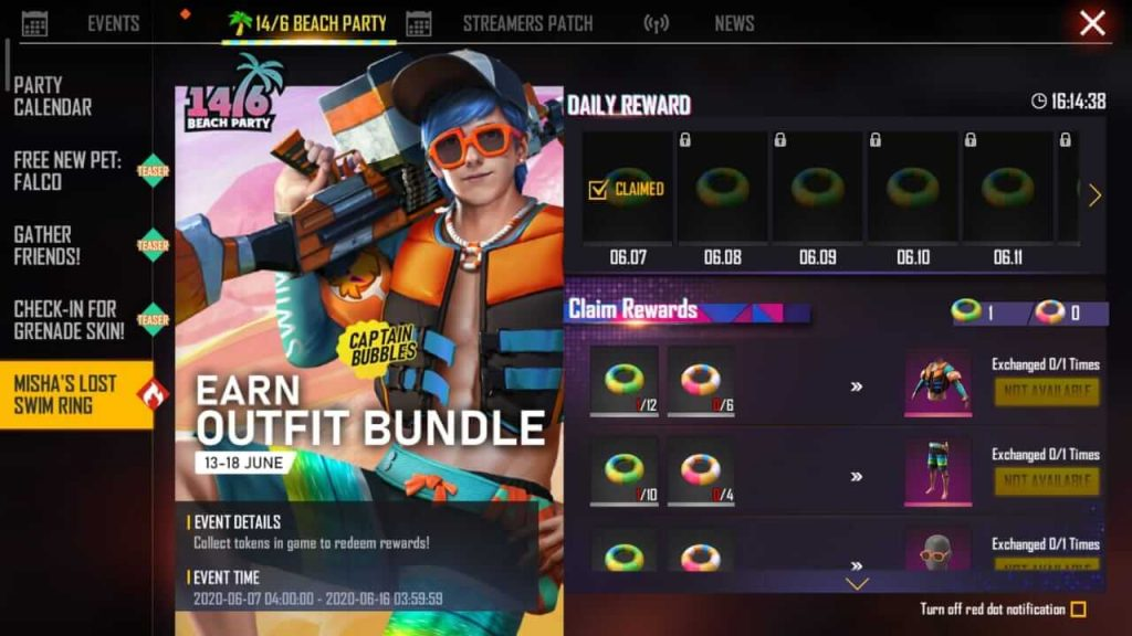 How To Collect Swim Rings A & B In Free Fire Beach Party Event