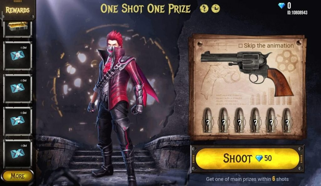 Free Fire One Shot One Prize Event Details: How To Play?
