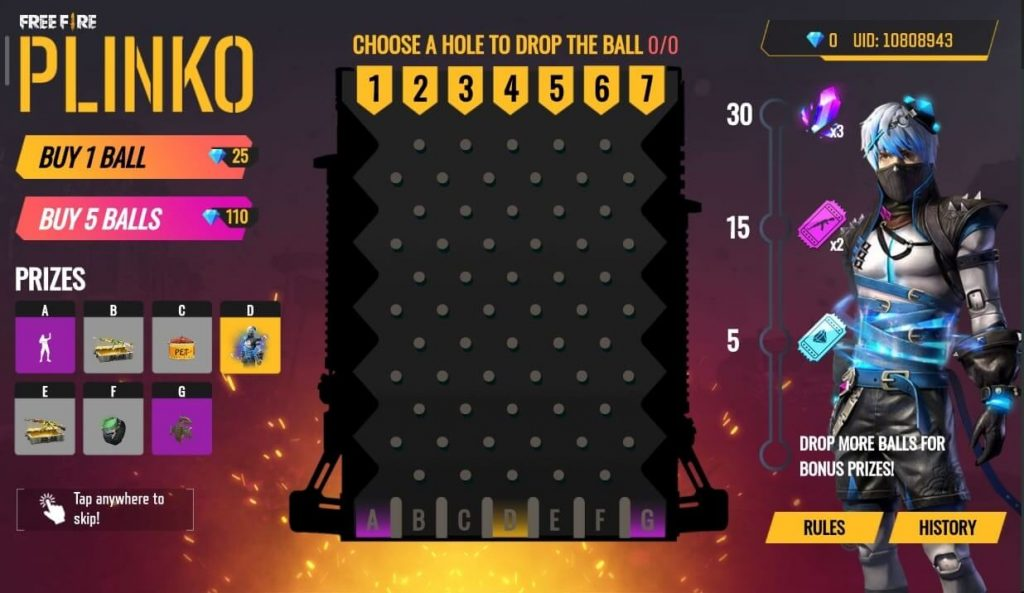Free Fire Plinko Event: Here Is How To Play
