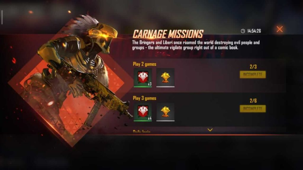 How To Collect Rampage Tokens & Carnage Points In Free Fire