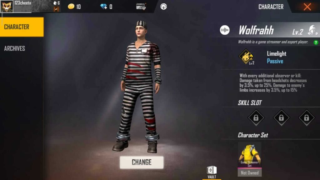 Free Fire Wolfrahh Character: Guide, Tips & Tricks