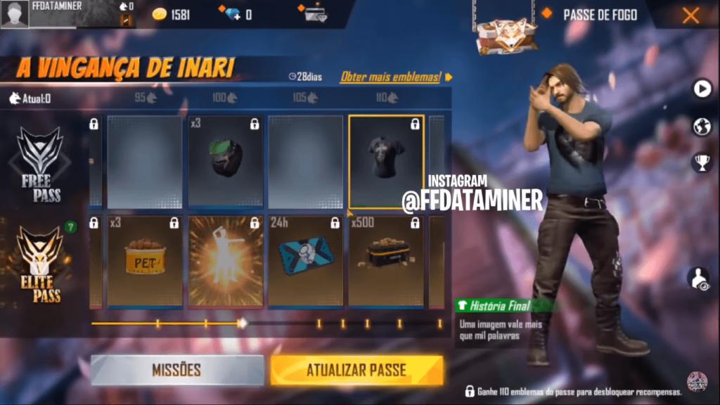 Free Fire Next Elite Pass (Season 26) Rewards Leaked