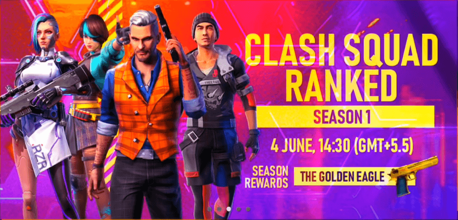 Free Fire Clash Squad Rank Season 1 Rewards Details
