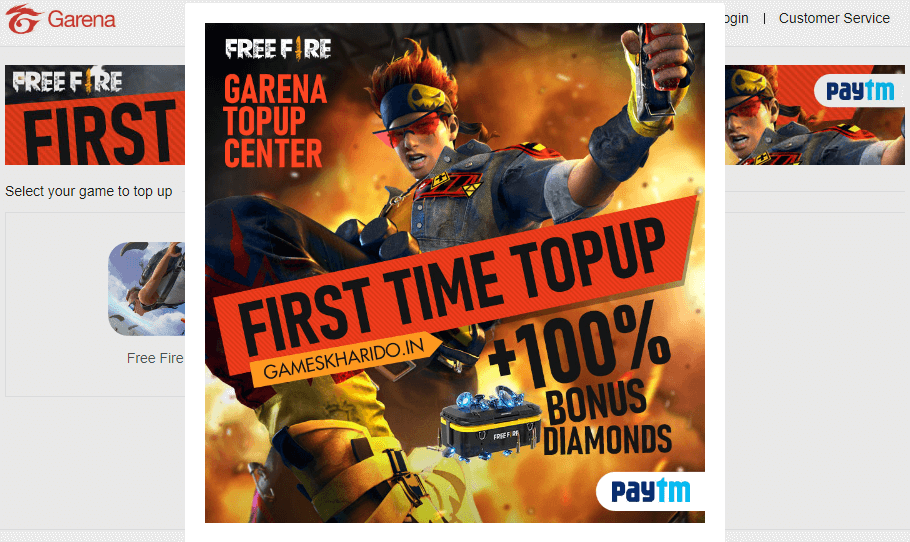How To Top-Up In Free Fire Using Paytm