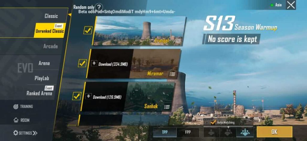 PUBG Mobile New Unranked Classic Mode To Release in 0.19.0 Update