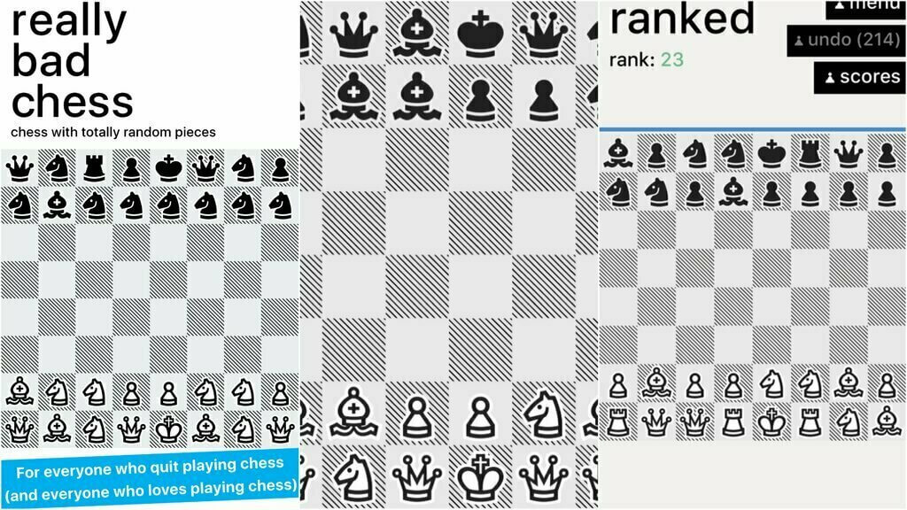 Tired of playing regular Chess? Try out 'Really Bad  Chess' a quirky new version of the board Game