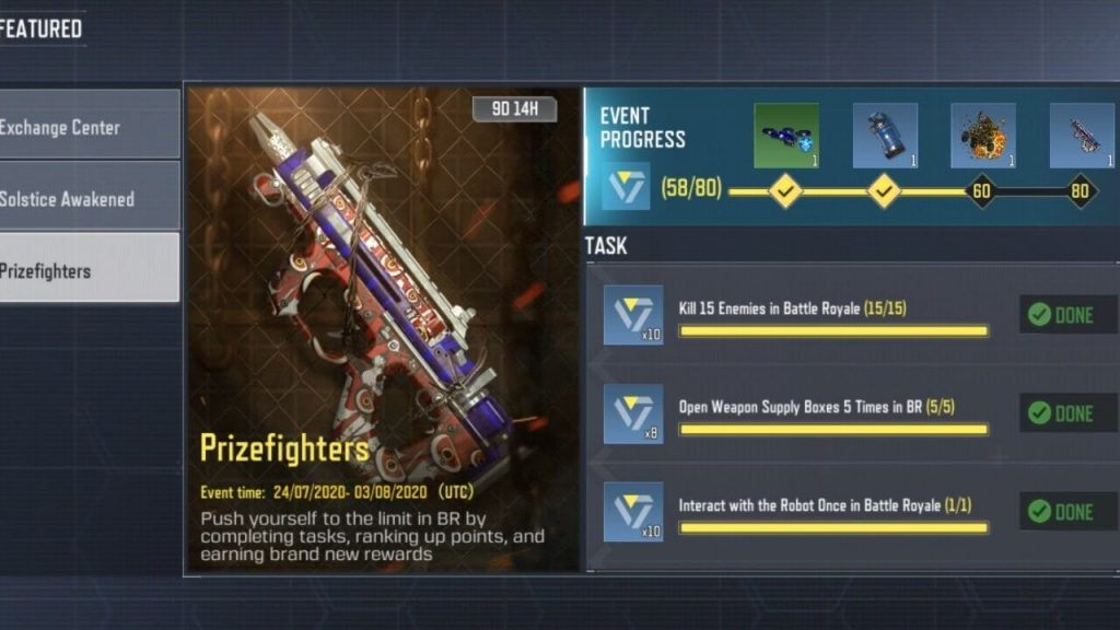 Call of Duty Mobile: The Prizefighters Event Details
