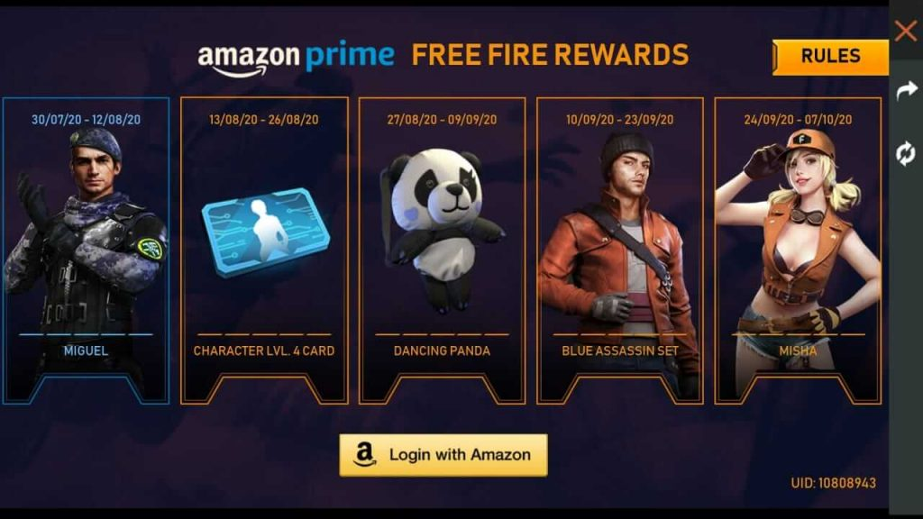 Free Fire: How To Get Free Rewards With Amazon Prime
