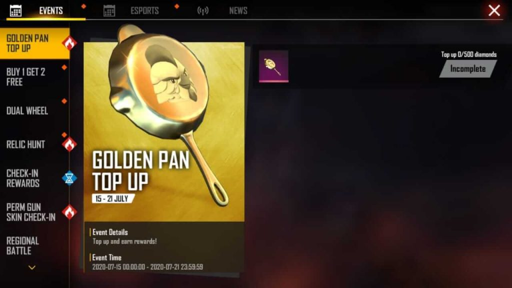 How To Get Golden Pan In Free Fire