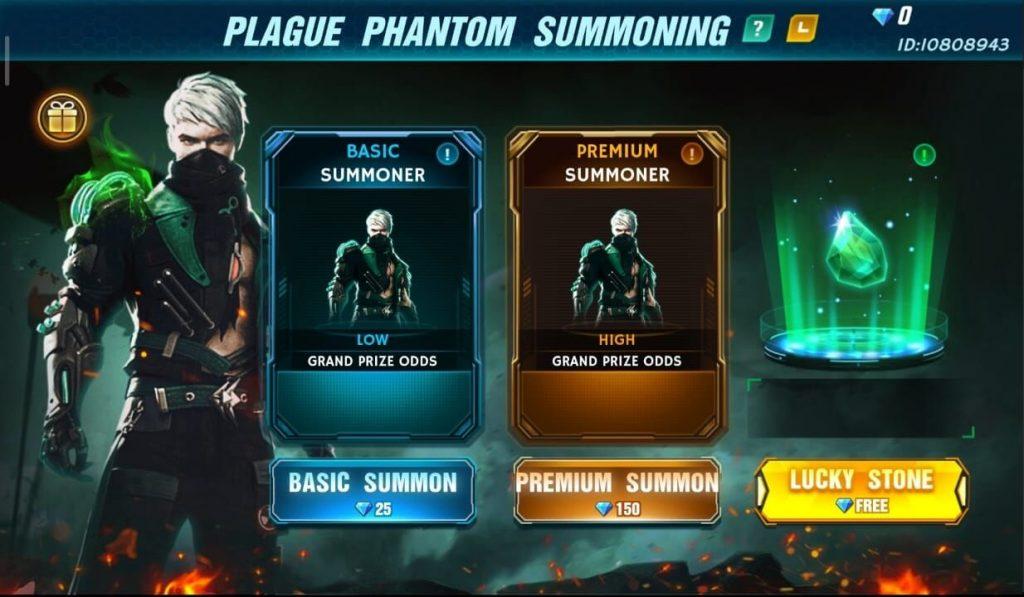 Free Fire Plague Phantom Summoning Event Complete Details