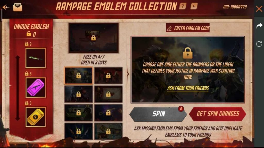 Free Fire Rampage Emblem Collection Event: How To Collect Rampage Emblem In Free Fire?
