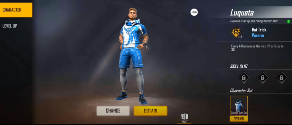 Free Fire OB23 Update: New Character 'Luqueta' Ability & Details