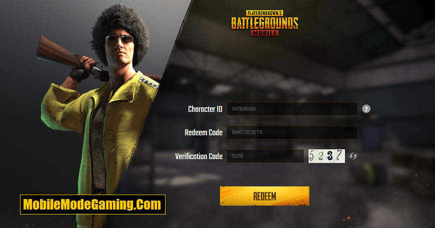 PUBG Mobile Legendary Outfit Redeem Code - July 2020