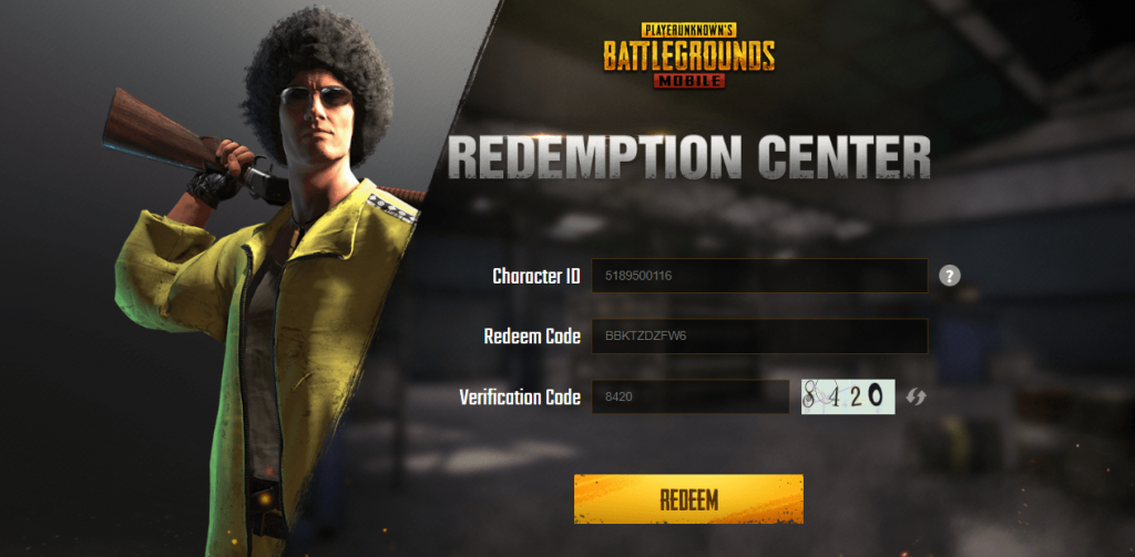 PUBG Mobile New Legendary Outfit Redeem Code