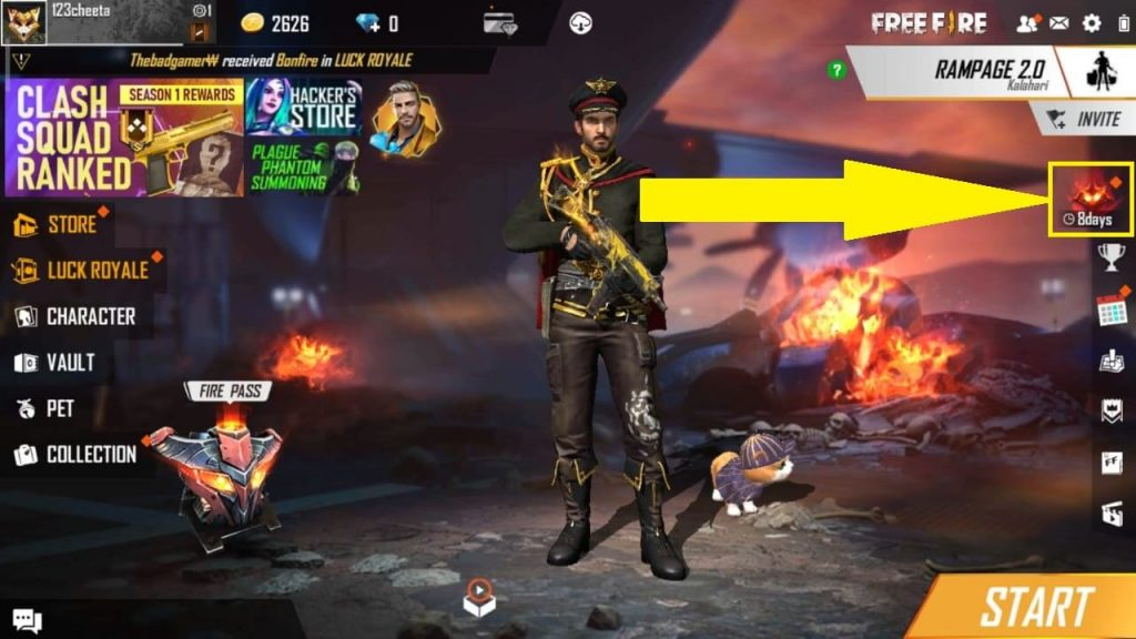 How To Get Free 'Threaten Emote' In Free Fire: Rampage Event Peak Day Reward