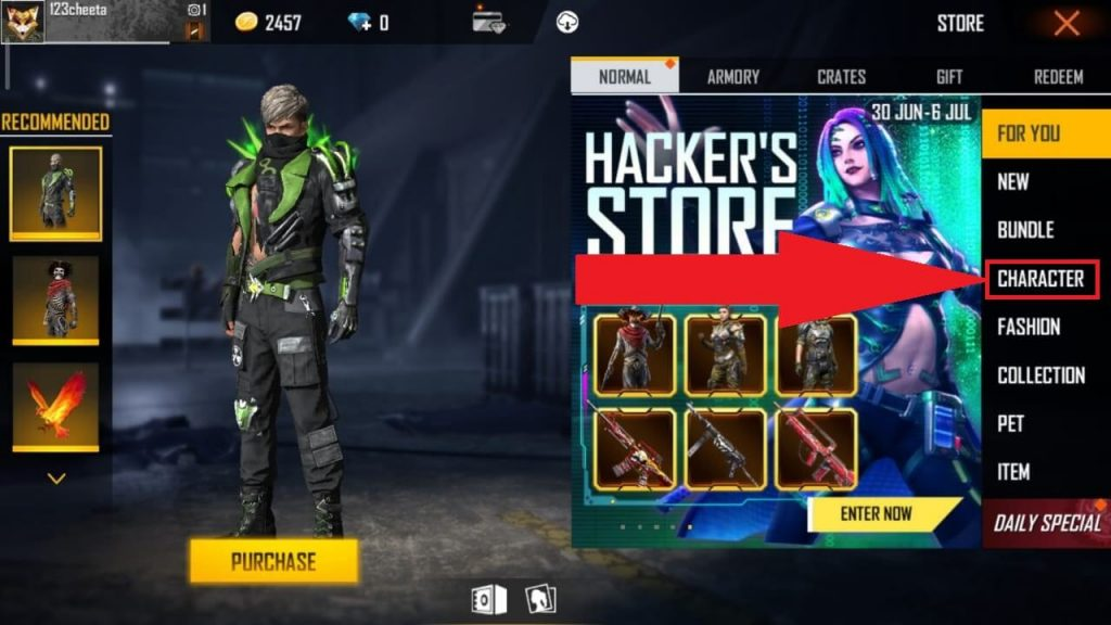 How To Get Characters In Free Fire? - Guide on Buying Characters