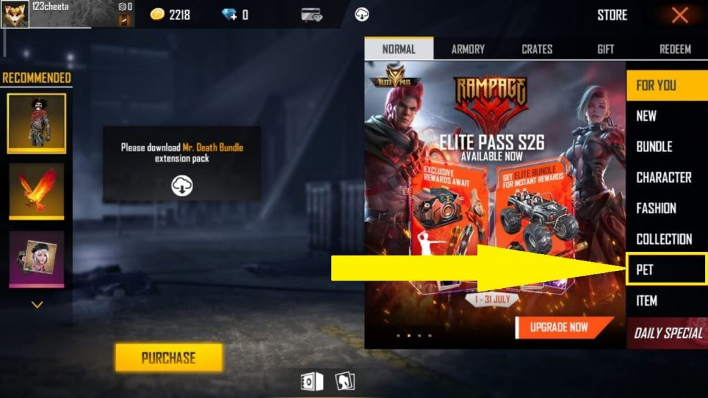 How To Get Pets In Free Fire? Guide