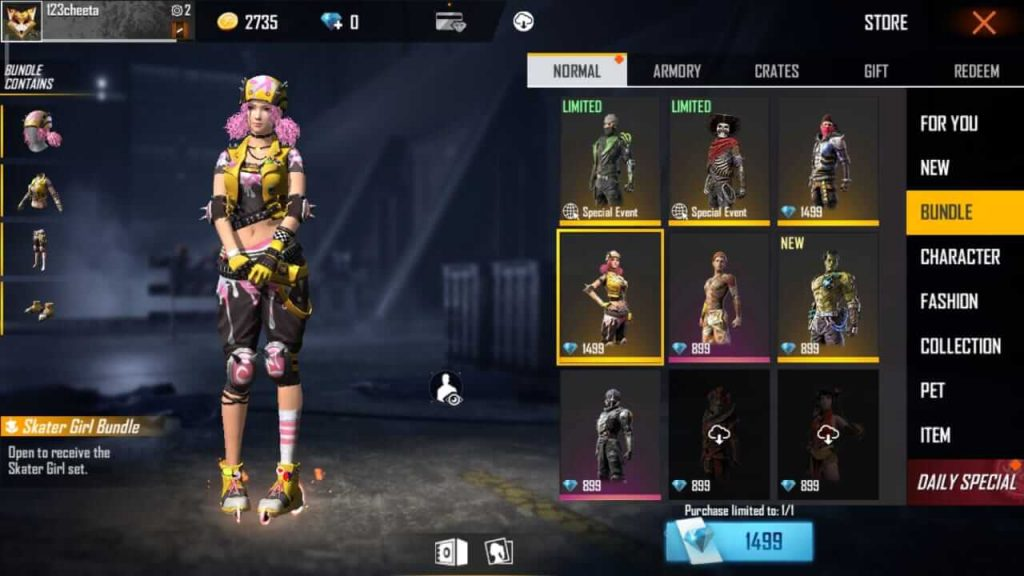 How To Get Bundles/Costumes In Free Fire? - Guide on Buying Bundles