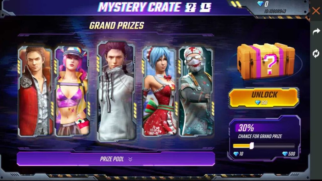 Free Fire Mystery Crate Event Details: Win 5 Fashion Bundles