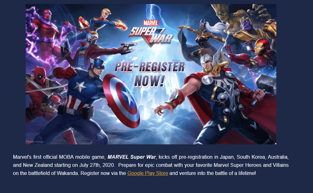 Marvel Super War Announced To Release in More Regions