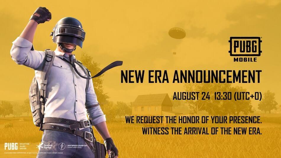 PUBG Mobile New Era Announcement: Complete Details