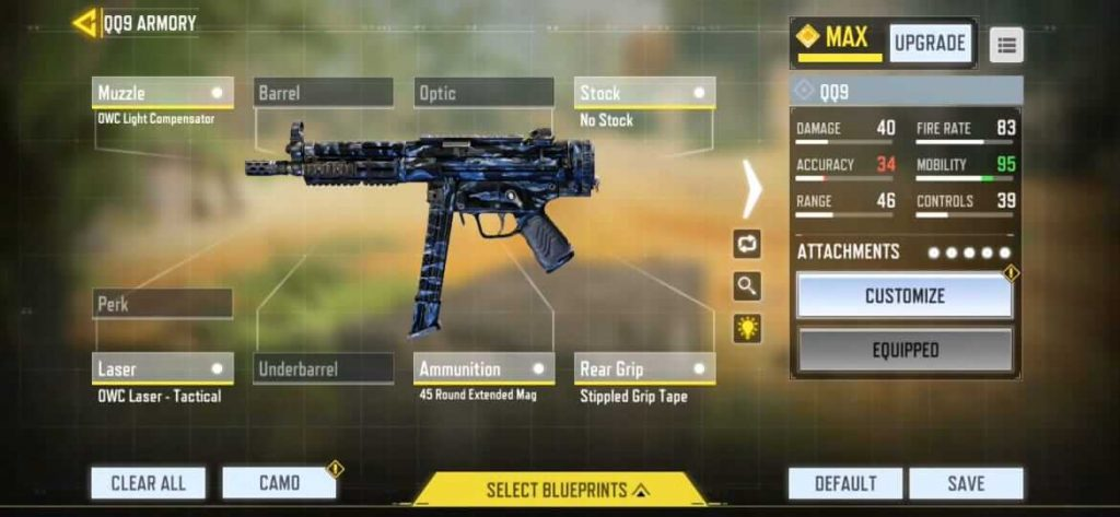 Call of Duty Mobile: Best Gunsmith Loadout for QQ9