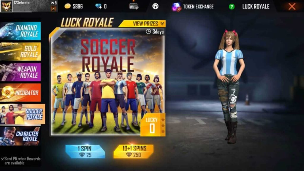 Free Fire August 2020 Luck Royale Changes