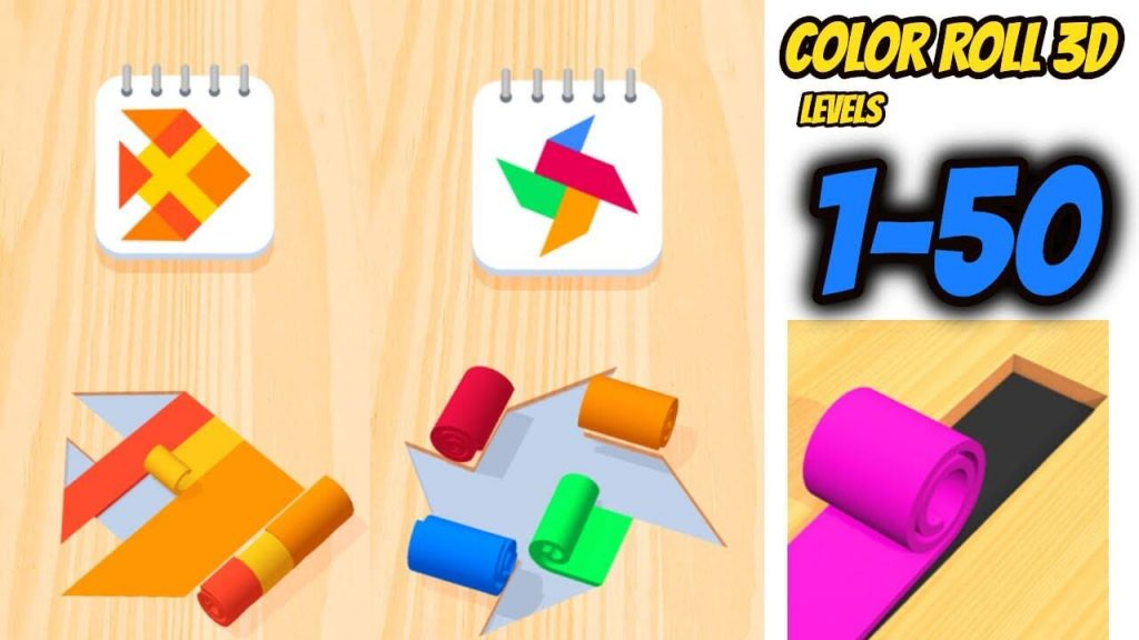 Color Roll 3D: Explore your creativity in this game