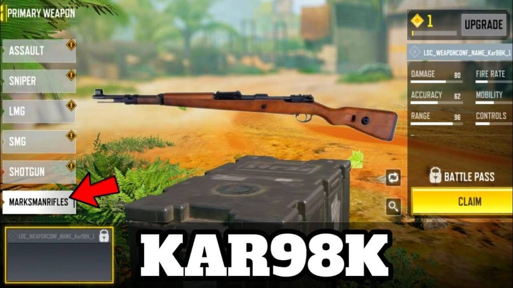New Weapon Class 'Marksman Rifle' With Kar98k To Release in COD Mobile Season 9