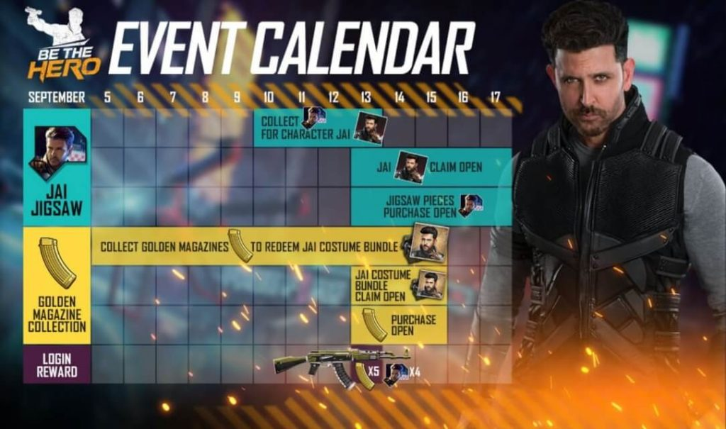 Free Fire '13/9 Be The Hero' Event Complete Details: Free Fire Jai Character and Bundle, Free AK Justice Fighter & Much More