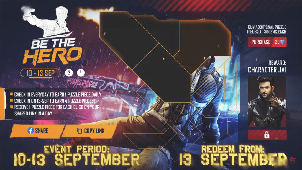How To Collect Golden Magazine & Jigsaw Pieces In Free Fire Be The Hero Event