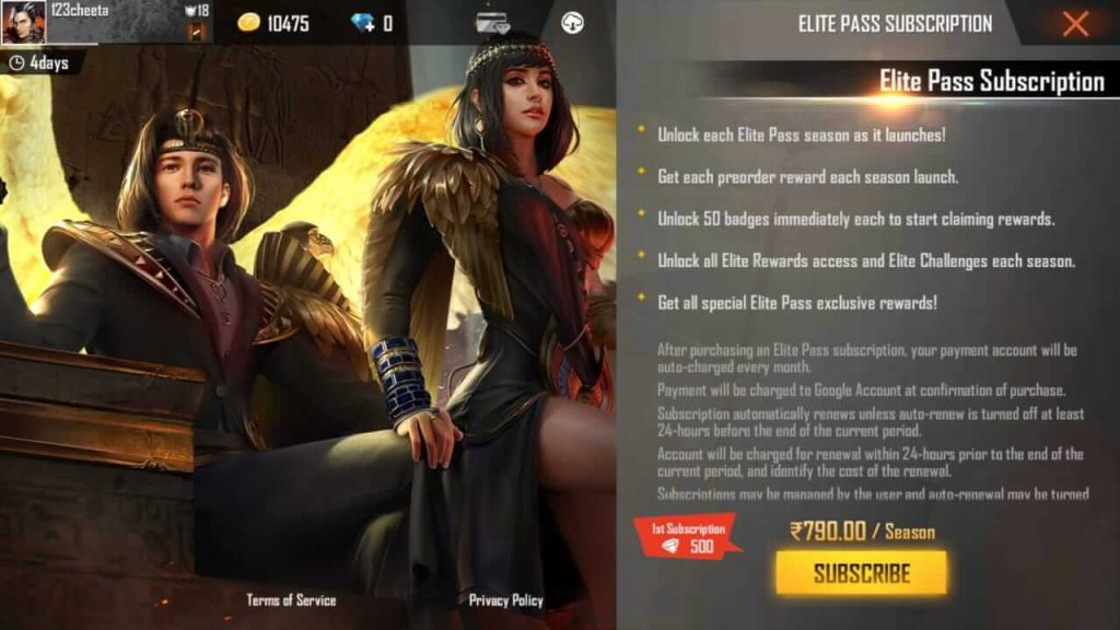 Free Fire Season 29 Elite Pass 'Anubis Legend II' Is Up For Pre-Order