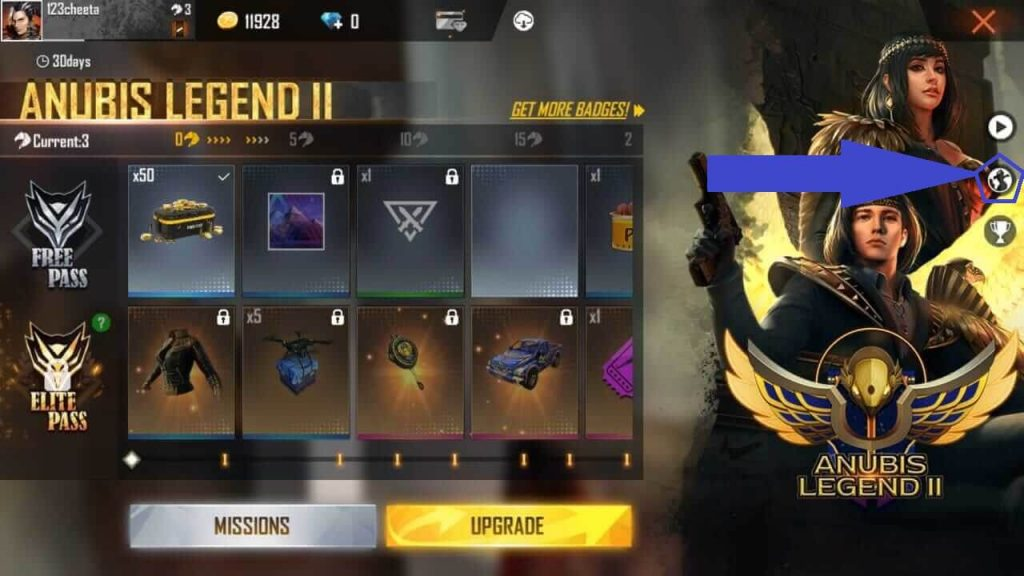 Get Free 100 Diamonds With Free Fire Season 29 (October 2020) Elite Pass