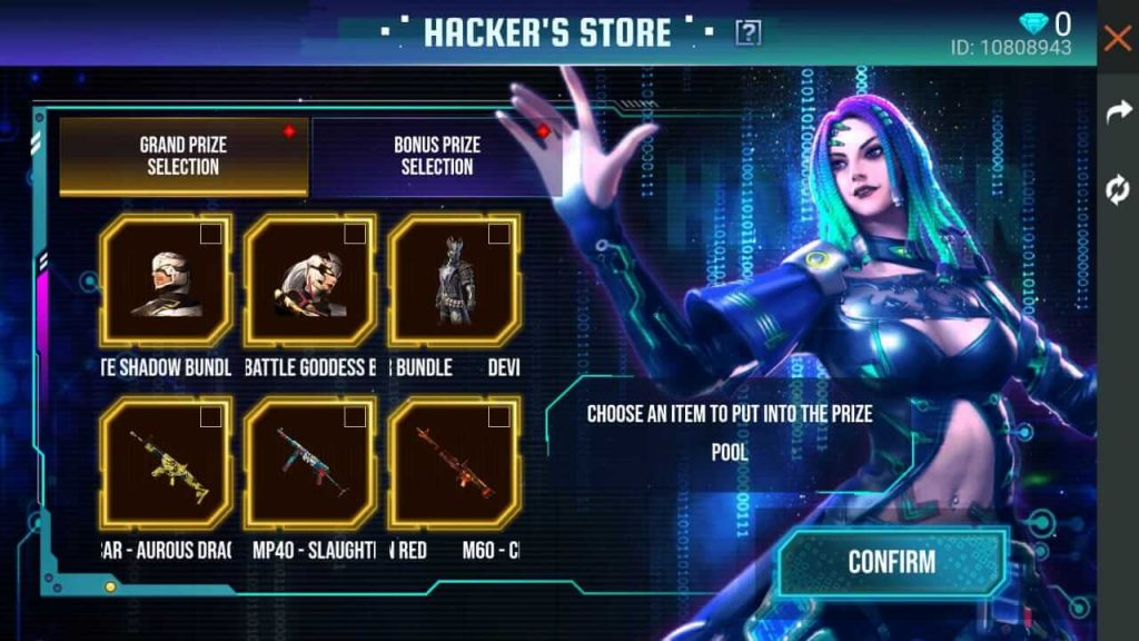 Free Fire October 2020 Hacker's Store: How To Spin & Win